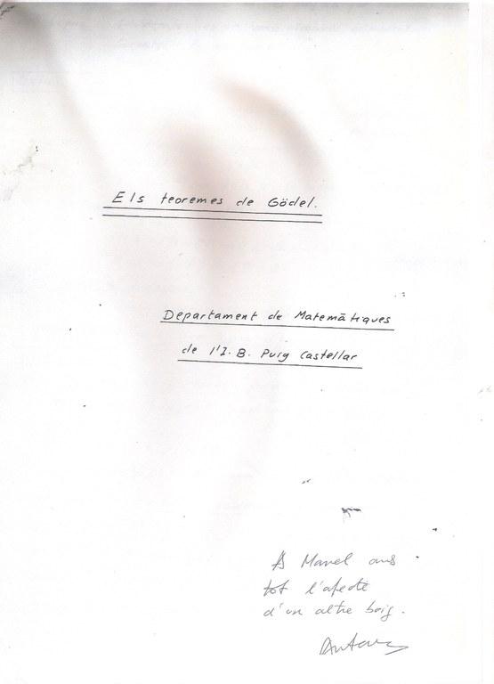 Els teoremes de Gödel