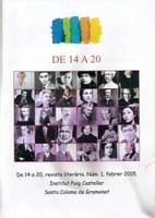 De 14 a 20, revista literària. Febrer de 2015