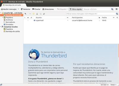 Descarga de correo en Thunderbird