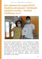 Dos alumnes de 2n d'ESO finalistes al concurs mSchool Scratch Challenge