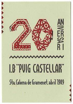 Celebració del 20è aniversari de l'Institut Puig Castellar