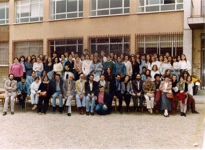 Professorat i alumnat, maig de 1993. 25à niversari de l'Institut Puig Castellar