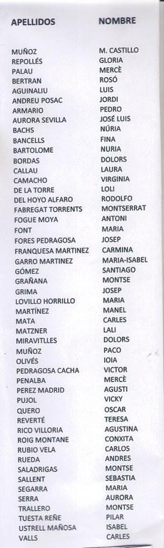 Alumnes de Preuniversitari (cursos 1969-70 i 70-71) i de COU (1971-72)