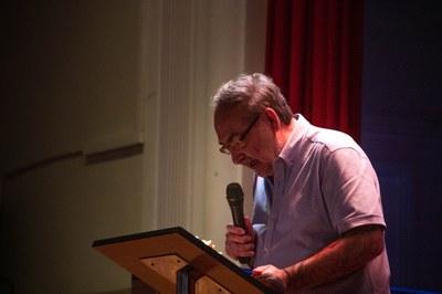 Antonio Cerrillo, periodista de La Vanguardia, durant la seva intervenció a l'acte de cloenda