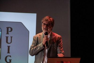 Carles Gil, director de l'Institut, durant la seva intervenció a l'acte de cloenda