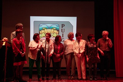Alguns dels directors del Puig Castellar, durant l'acte de cloenda del cinquantenari