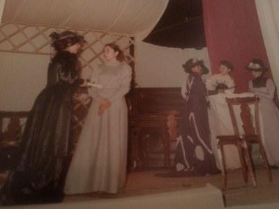 Un momento de la representación de Doña Rosita la soltera el 14 de mayo de 1982