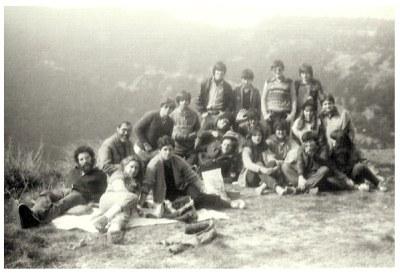 Excursió del grup 201 a Centelles. Curs 79-80