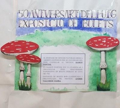 Exposició de bolets organitzada dins dels actes del Cinquantenari