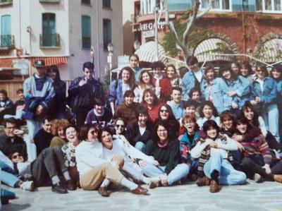 Excursión a Colliure para rendir homenaje a Antonio Machado. Abril de 1992