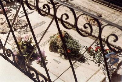 El cementerio del Espino, en Soria, marzo de 1995