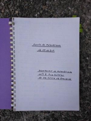 Quadern de Matemàtiques