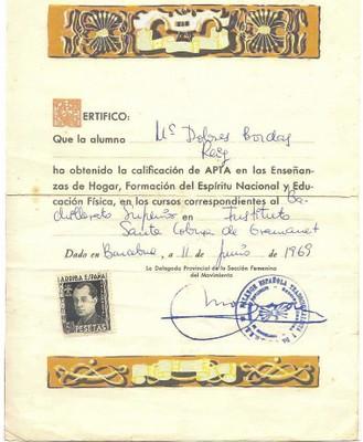 Qualificacions del curs 1968-69