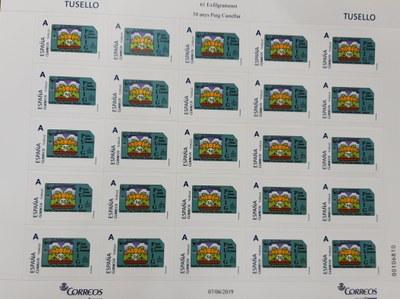 El Cercle Filatèlic de Santa Coloma dedica un segell al 50è aniversari del Puig Castellar