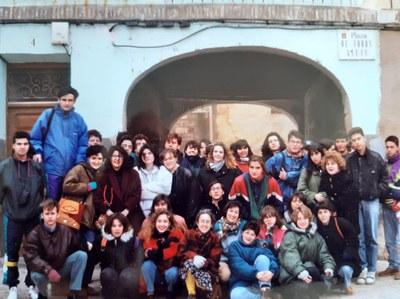En la antigua plaza de toros de Tarazona, abril de 1992