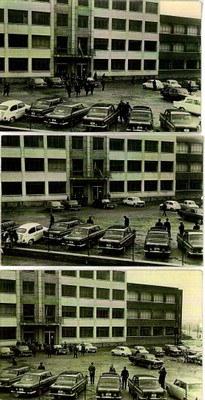 Tres fotografies del dia de la inauguració de l'Institut (30 de novembre de 1968)