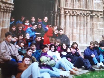 En el monasterio de Veruela, abril de 1992