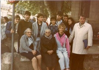 El profesor Antoni Segarra, en Collioure. Noviembre de 1986