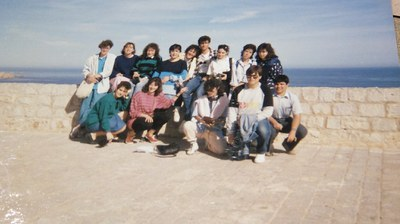 Alumnos de 3º de BUP en viaje de fin de curso a Ibiza