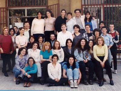 Grupo de COU 5 (1996-1997) con algunos profesores