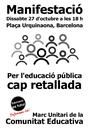 El Claustre i el Consell Escolar del Puig s'adhereixen a la manifestació unitària en defensa de l'ensenyament