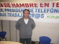 Josep Bel, exalumne del Puig als anys 70, en  vaga de fam pels drets del treballadors amb 6 companys més de feina.